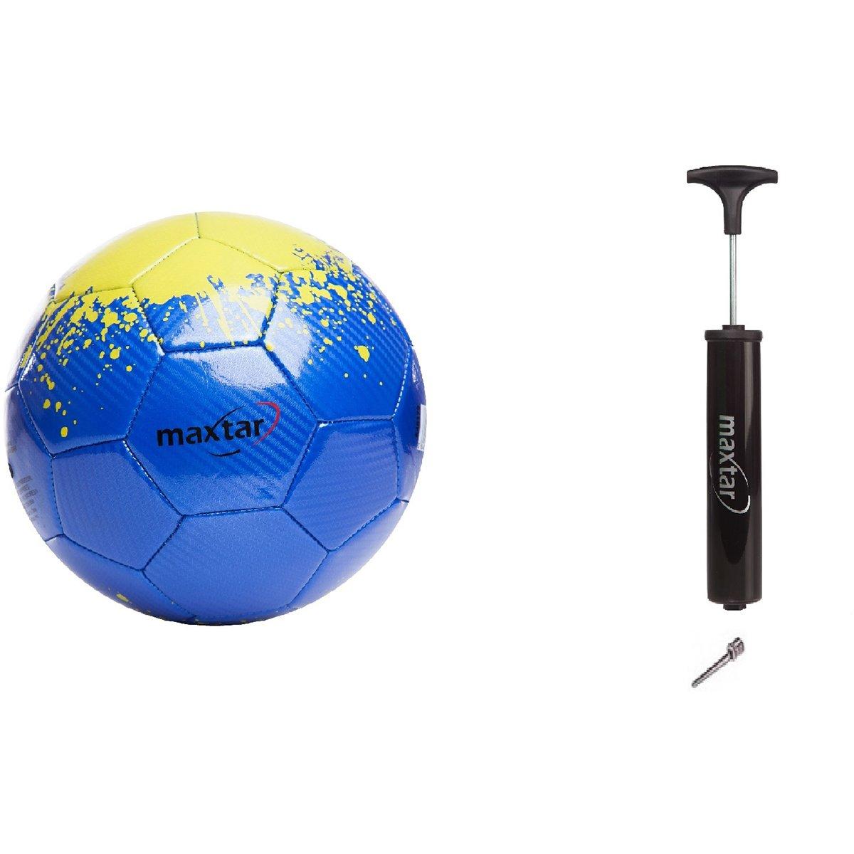 Set Minge de fotbal cu pompa manuala Maxtar, Albastru