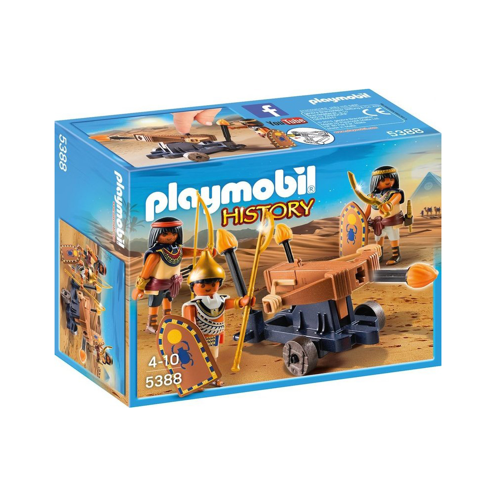 set figurine playmobil history - soldati egipteni cu balista