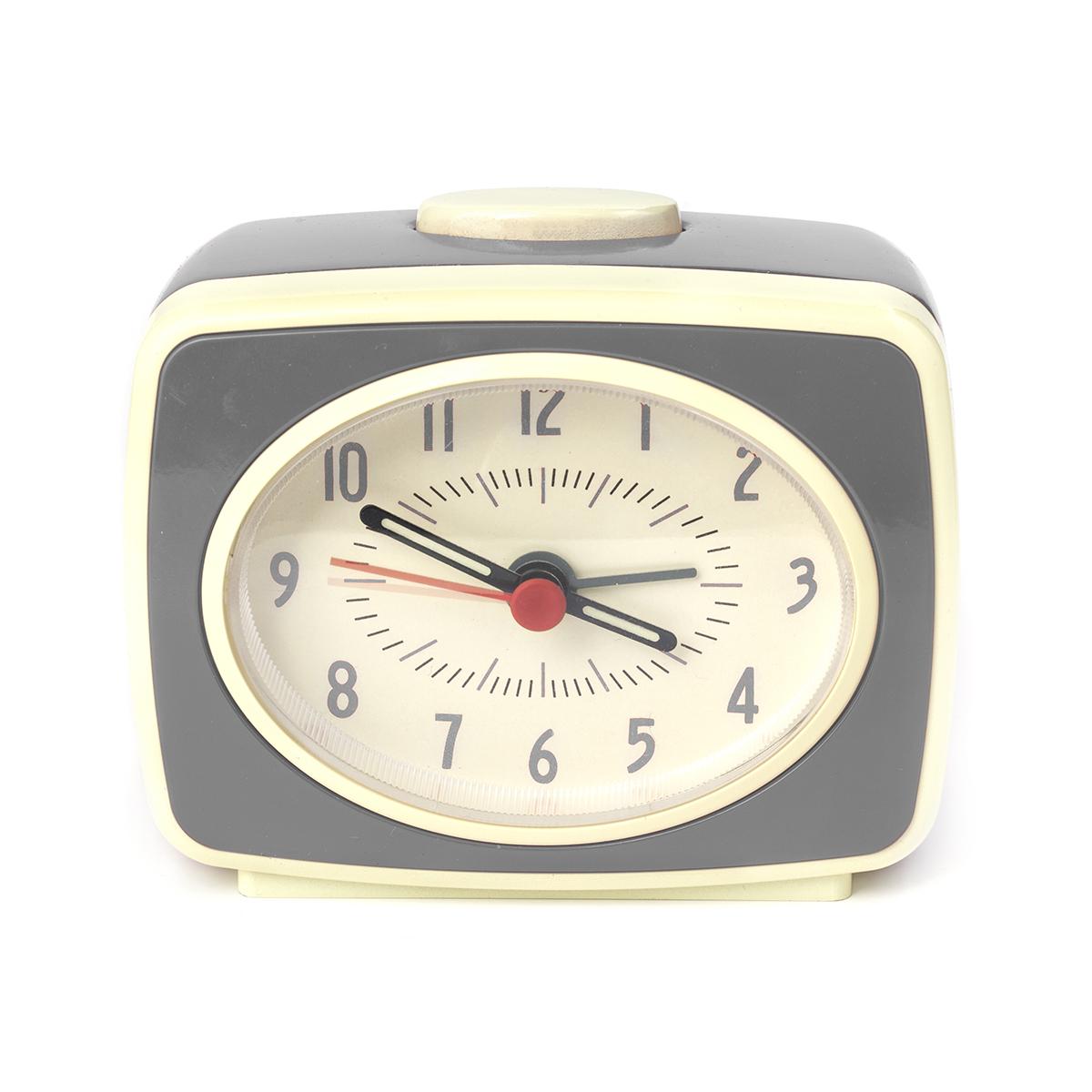 Ceas cu alarma Retro, Quartz, Noriel Impulse, Gri imagine
