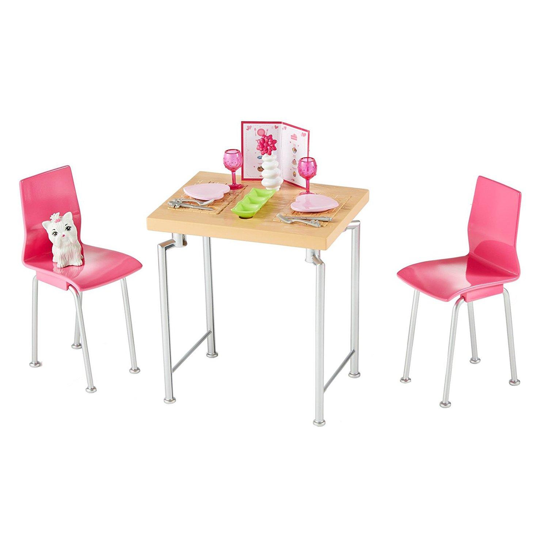 accesorii papusa barbie - set de mobilier bucatarie