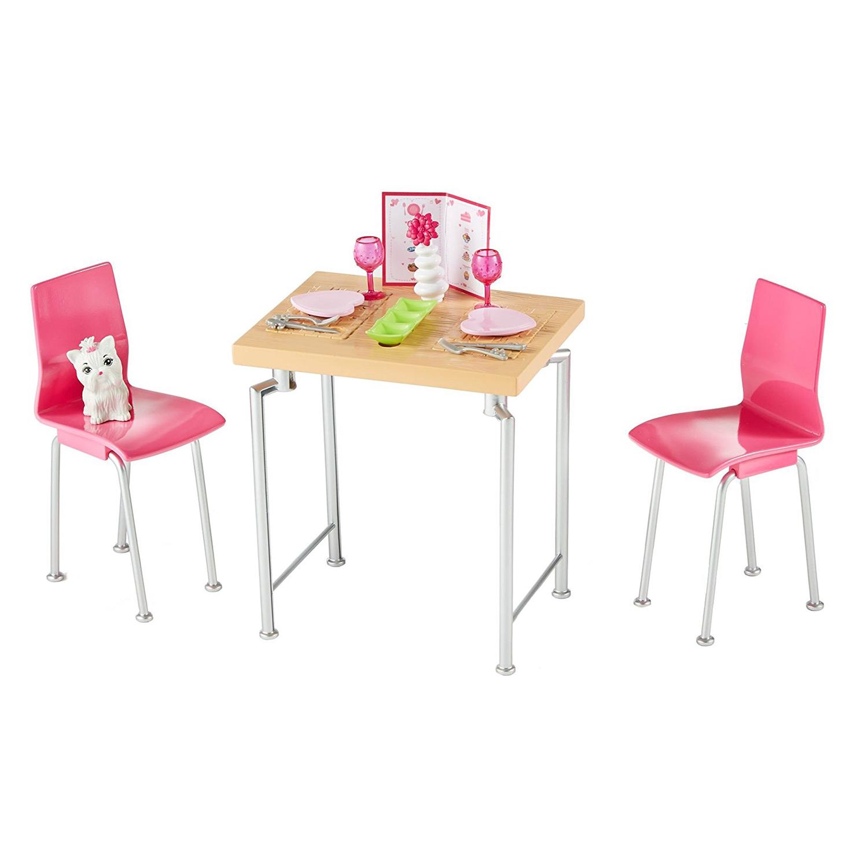Accesorii papusa Barbie - Set de mobilier bucatarie cu catel, DVX50