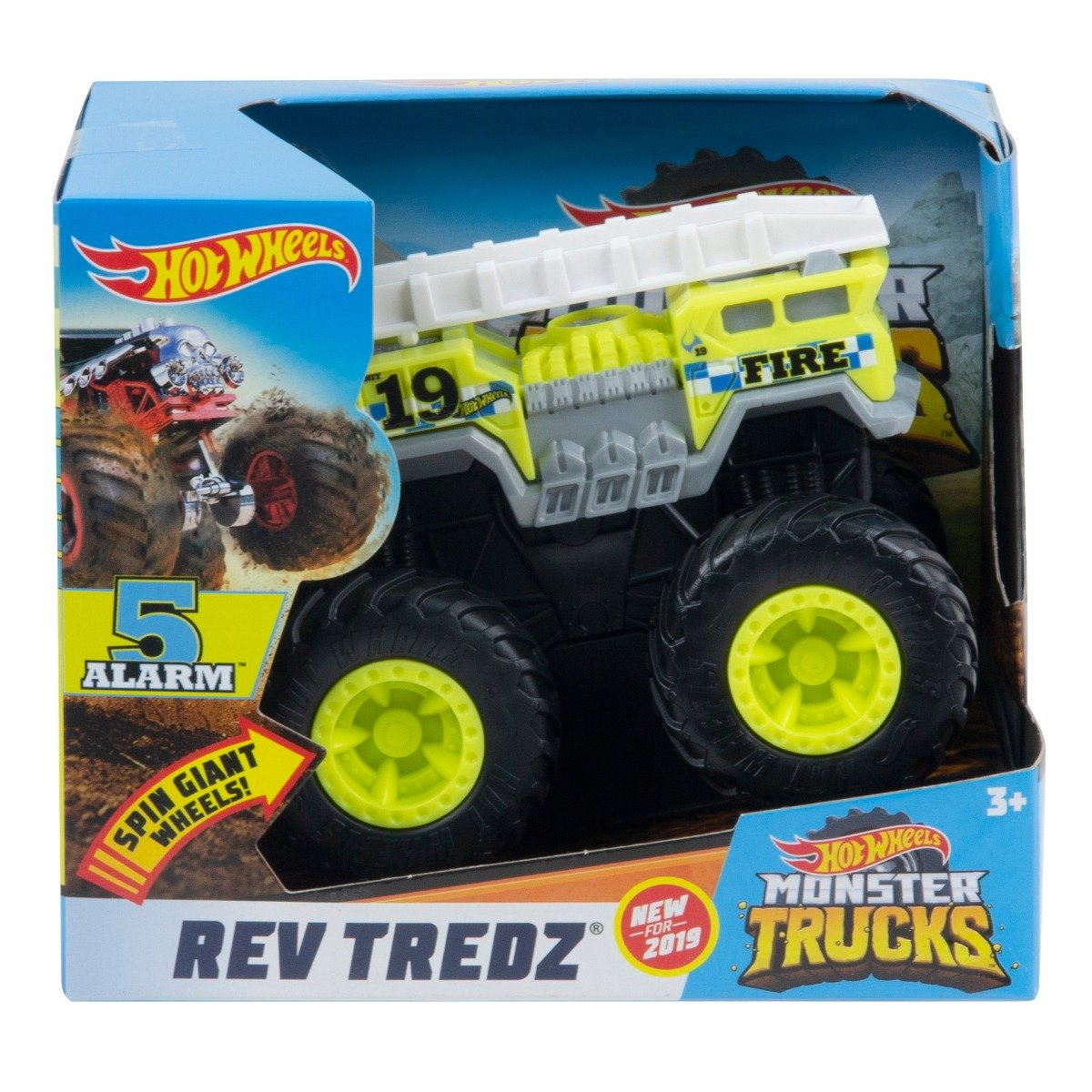 Masinuta Hot Wheels Rev Tredz, 5 Alarm GBV11