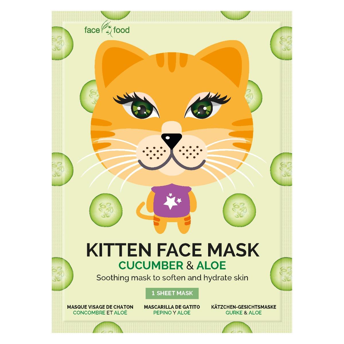 Masca pentru adolescenti din material textil 7Th Heaven, Kitten imagine