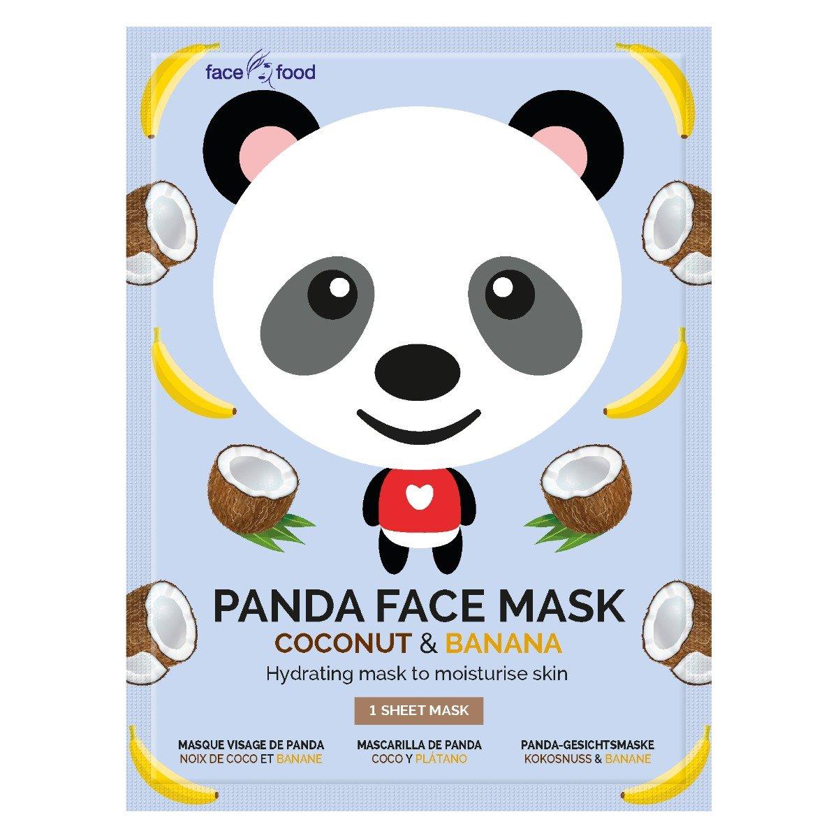 Masca pentru adolescenti din material textil 7Th Heaven, Panda imagine