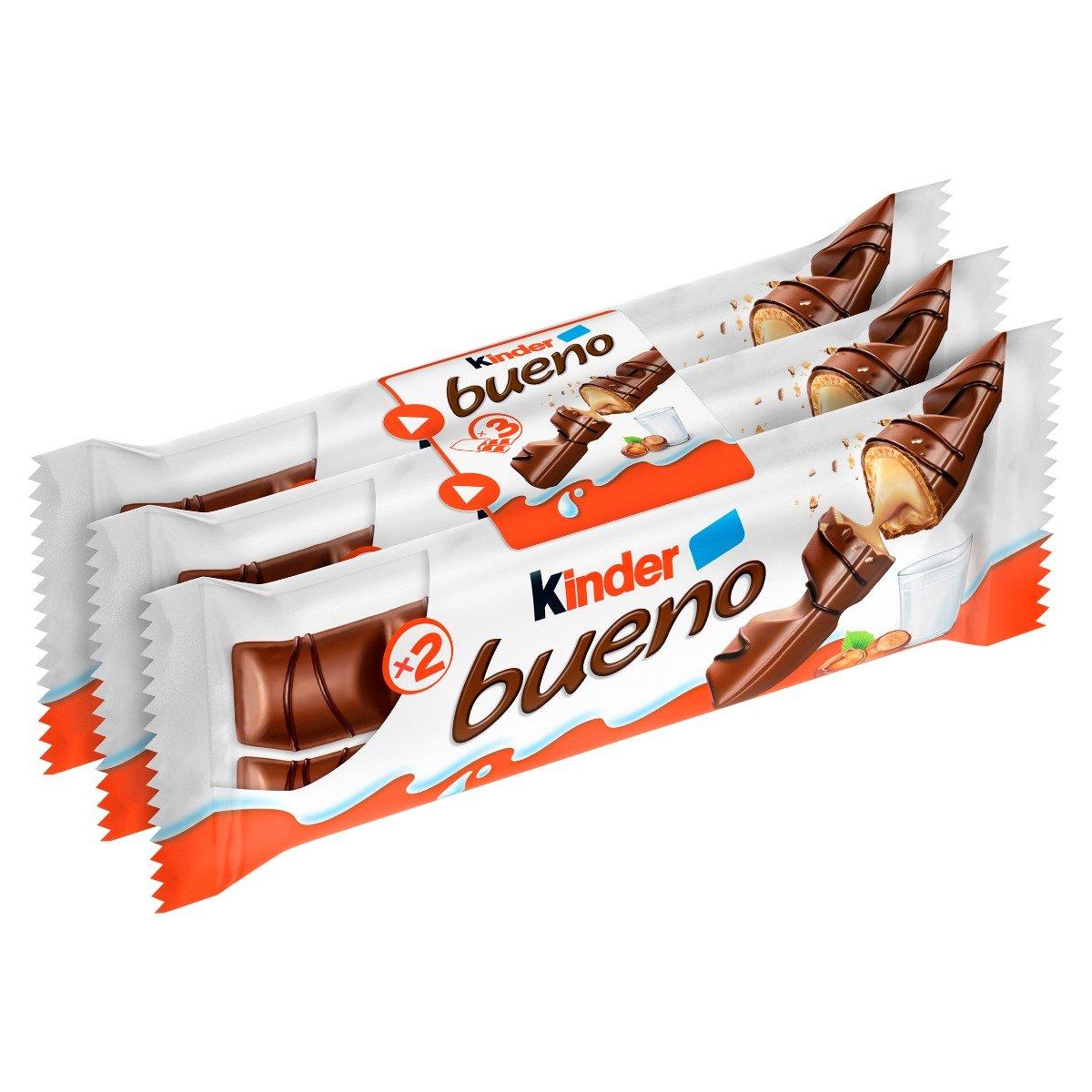 Napolitane glazurate cu ciocalata Kinder Bueno, 3 x 2 buc imagine