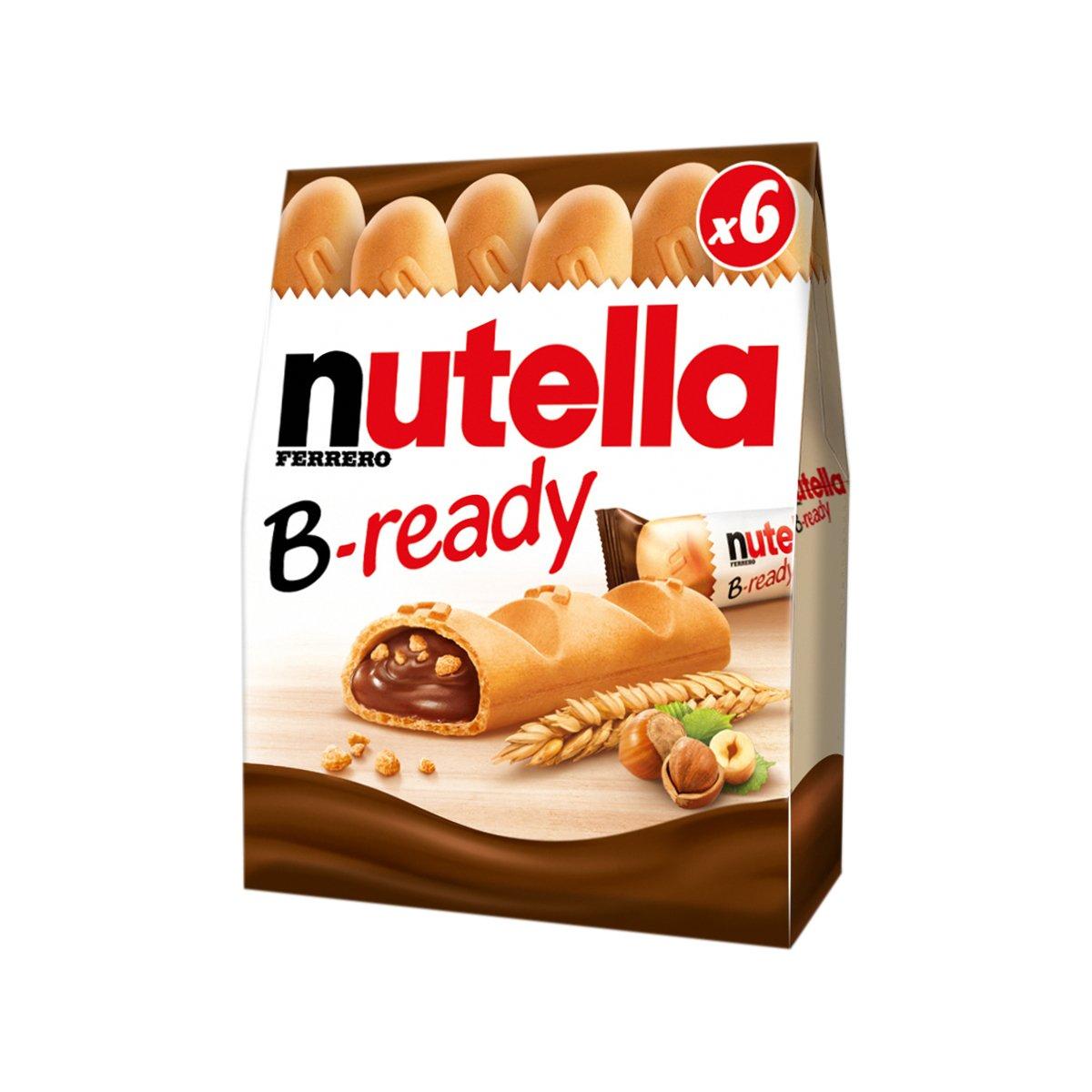 Batoane cu crema de alune si cacao Nutella B-ready, 6 x 22 g imagine