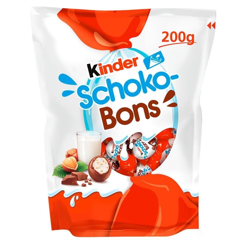 Bomboane de ciocolata cu lapte Kinder Schokobons, 200 g