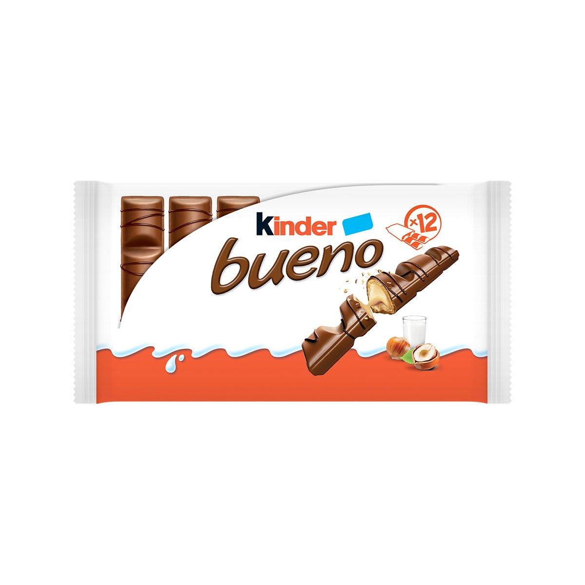 Napolitane cu ciocolata cu lapte si alune Kinder Bueno, 2 x 12 buc imagine