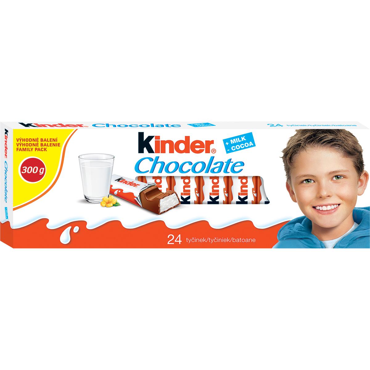 Batoane de ciocolata Kinder Chocolate, 24 buc imagine