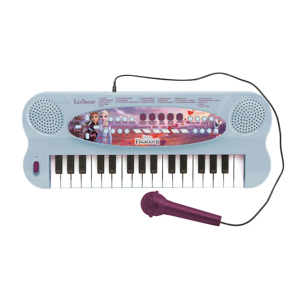 Orga electronica Lexibook, 32 de clape, sunete incorporate si microfon, Disney Frozen