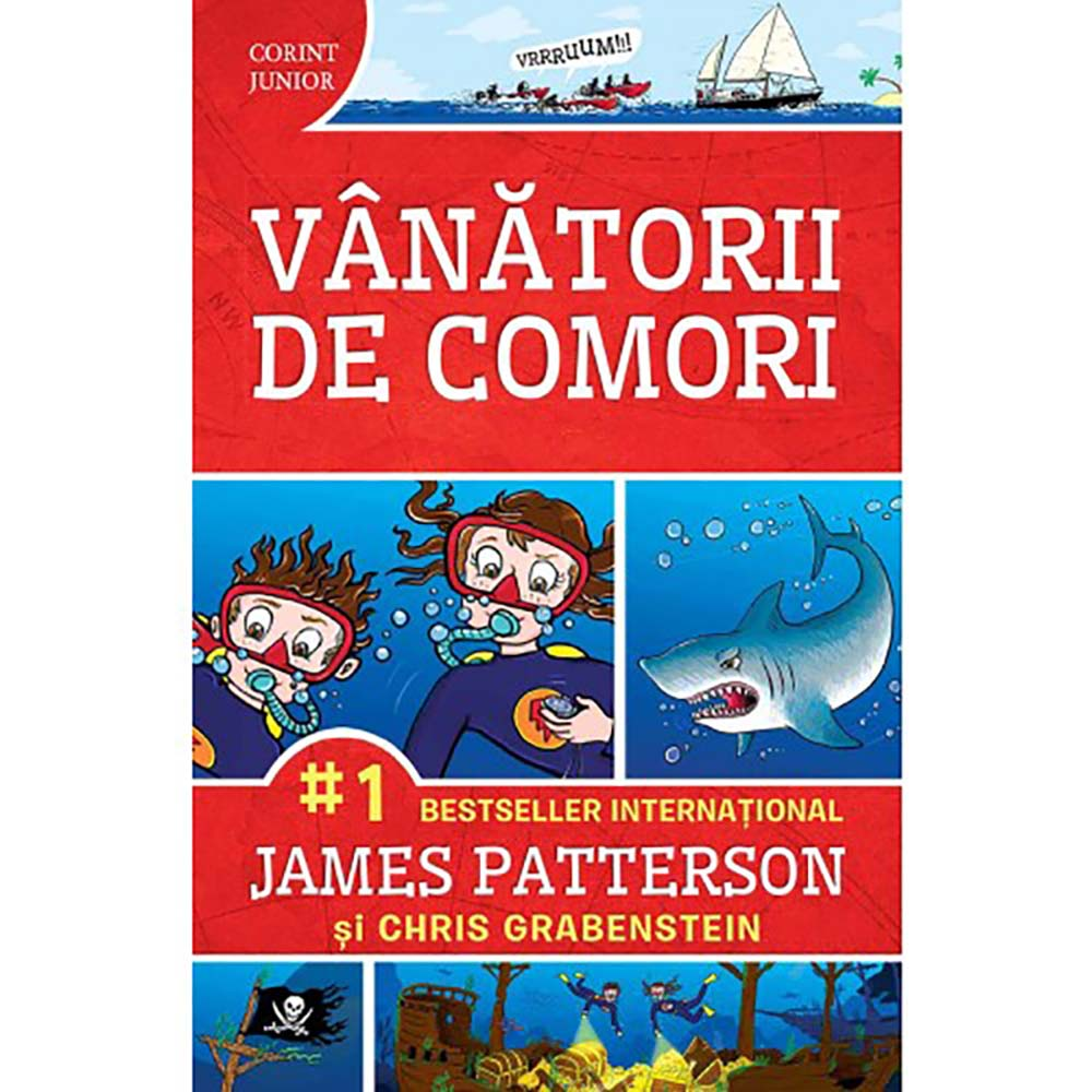 Carte Editura Corint, Vanatorii de comori, James Patterson, Chris Grabenstein