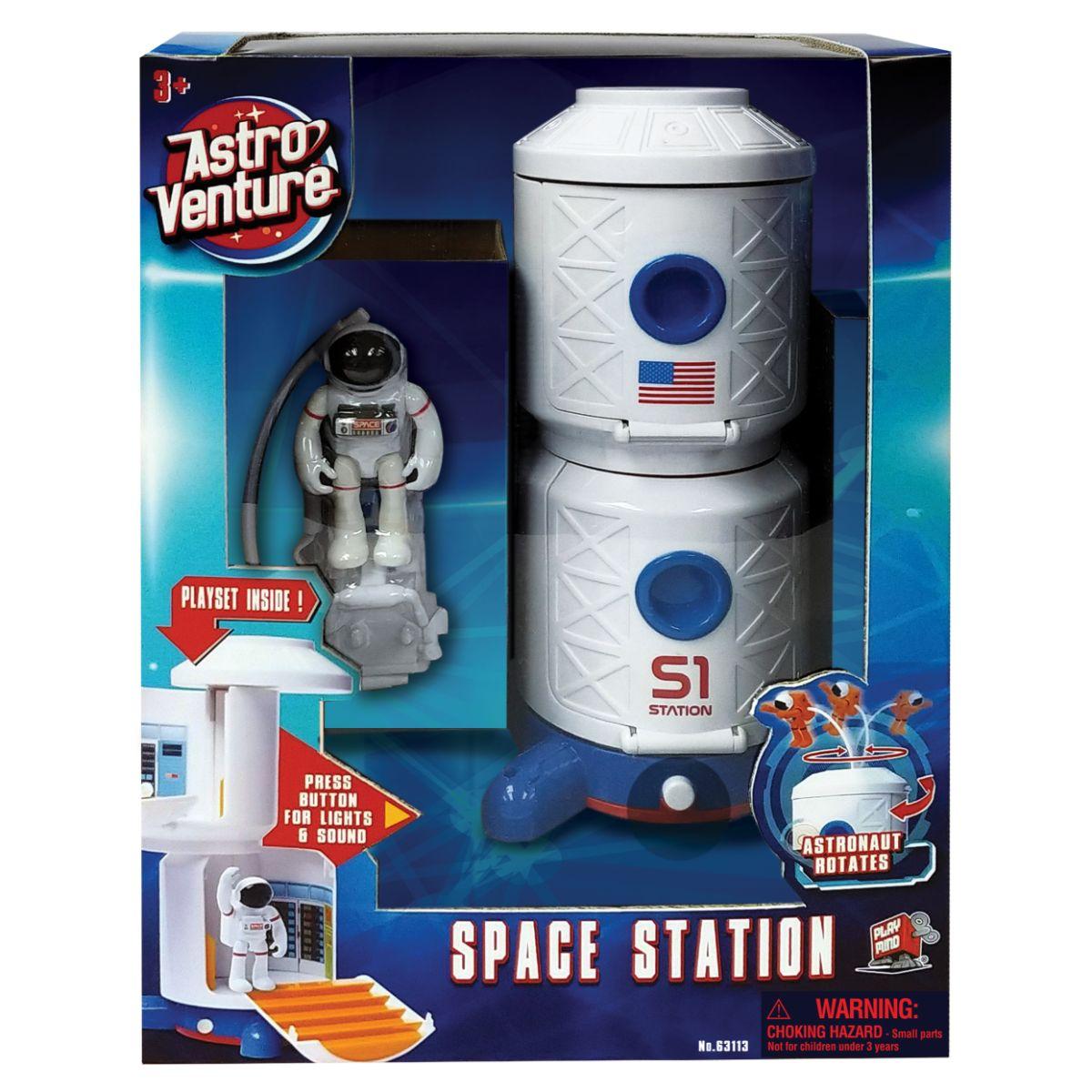 Statie spatiala si figurina astronaut Astro Venture