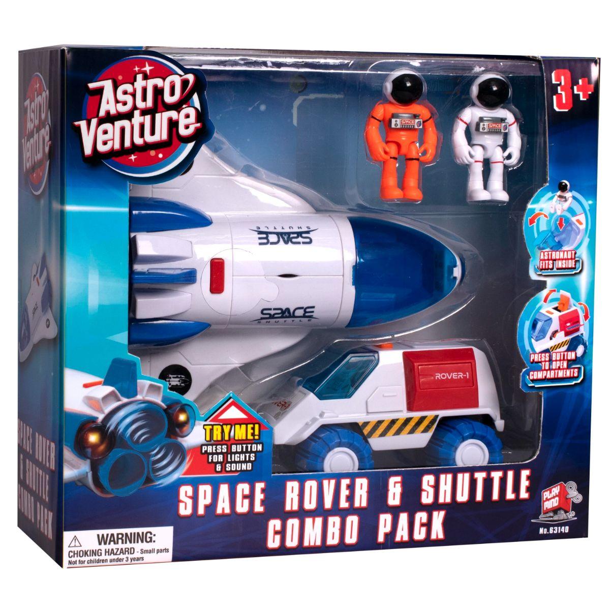 Set spatial 2 in 1 cu figurine Astro Venture (Naveta spatiala, Vehicul spatial)