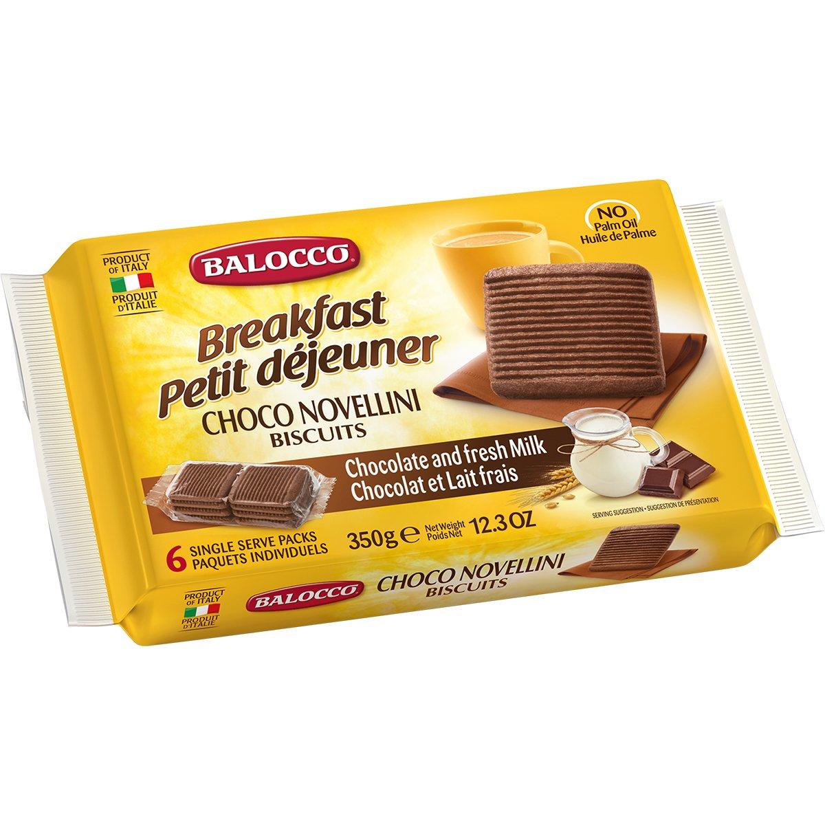 Biscuiti cu ciocolata Balocco Chocco Novellini, 350 g imagine