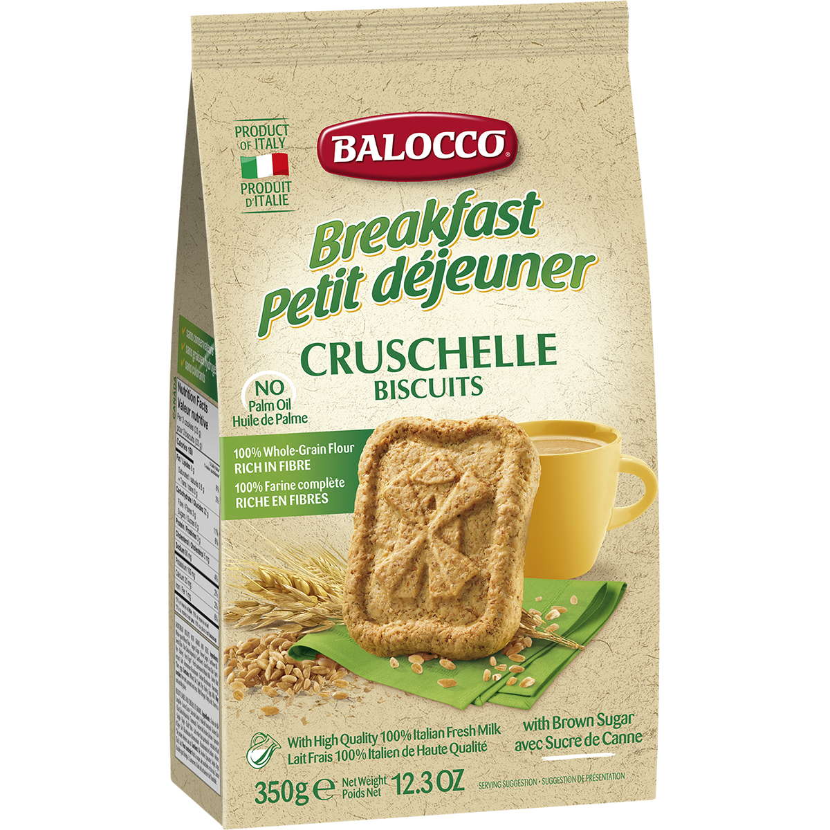Biscuiti integrali Balocco Cruschelle, 350 g imagine