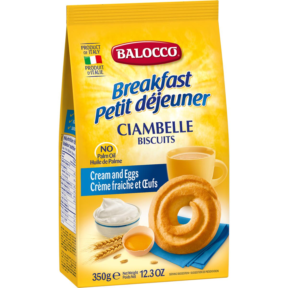 Biscuiti cu smantana Balocco Ciambelle, 350 g imagine