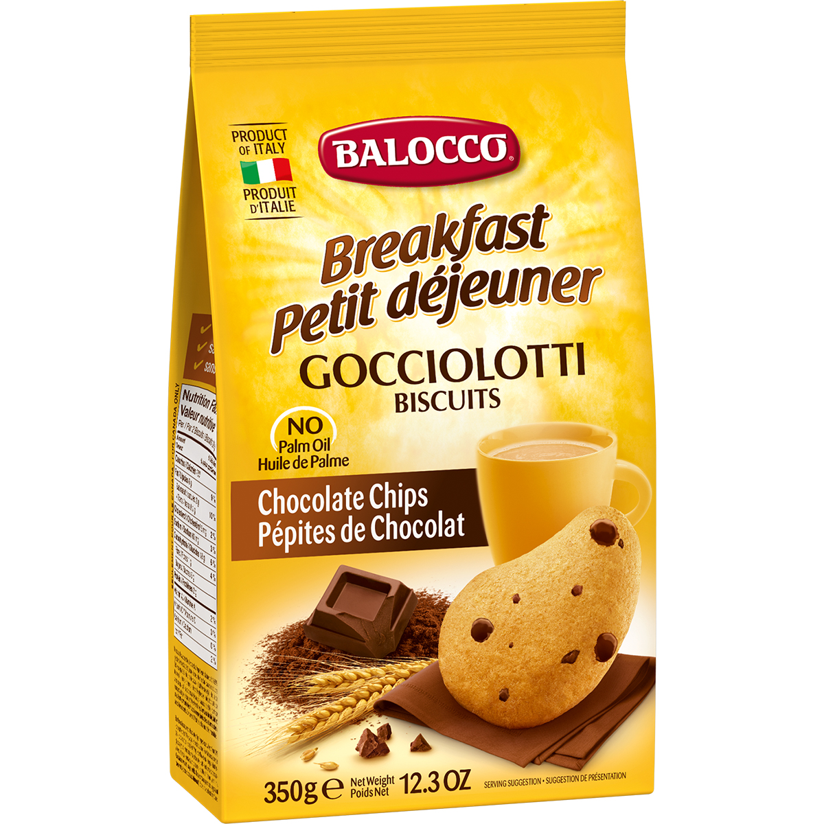 Biscuiti cu bucati de ciocolata Balocco Gocciolotti, 350 g imagine
