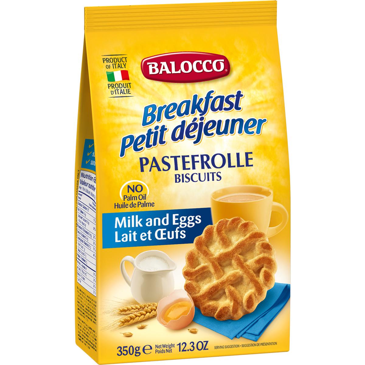 Biscuiti cu lapte si ou Balocco Pastefrolle, 350 g imagine