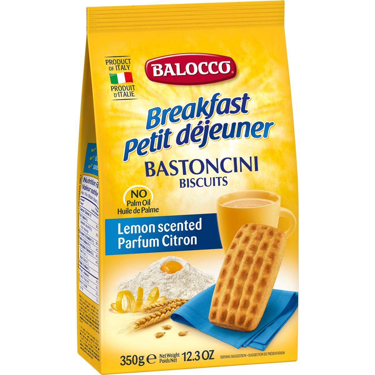 Biscuiti cu gust de lamaie Balocco Bastoncini, 350 g imagine