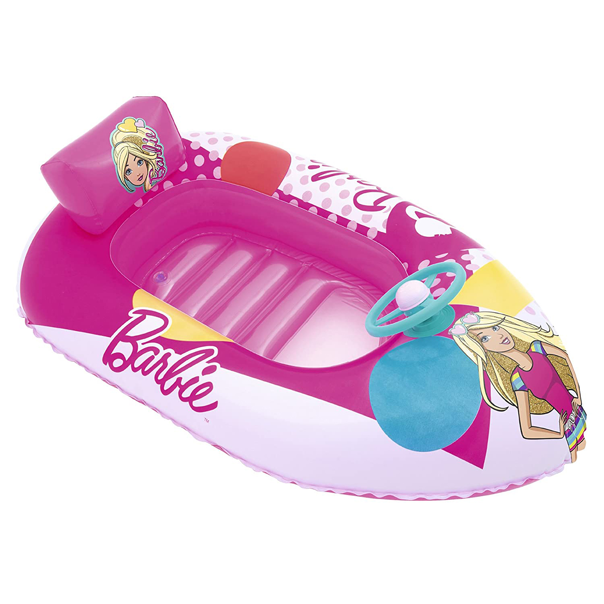 Barca gonflabila Bestway, Barbie Fashion, 114 x 71 cm imagine