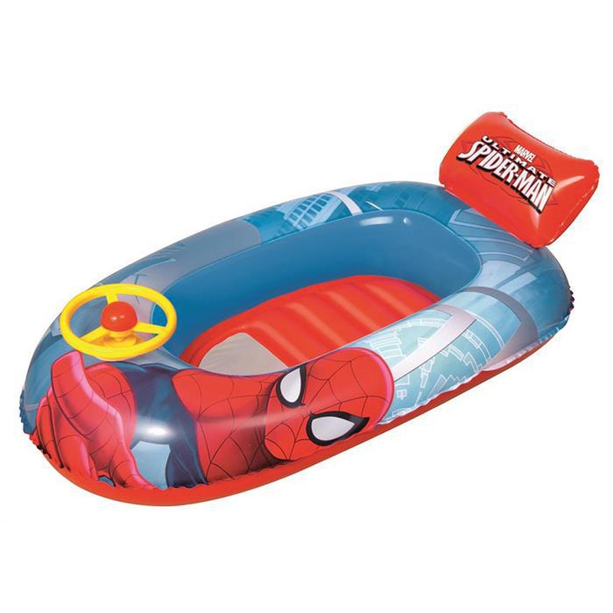 Barca gonflabila Bestway, Spiderman, 112 x 71 cm imagine