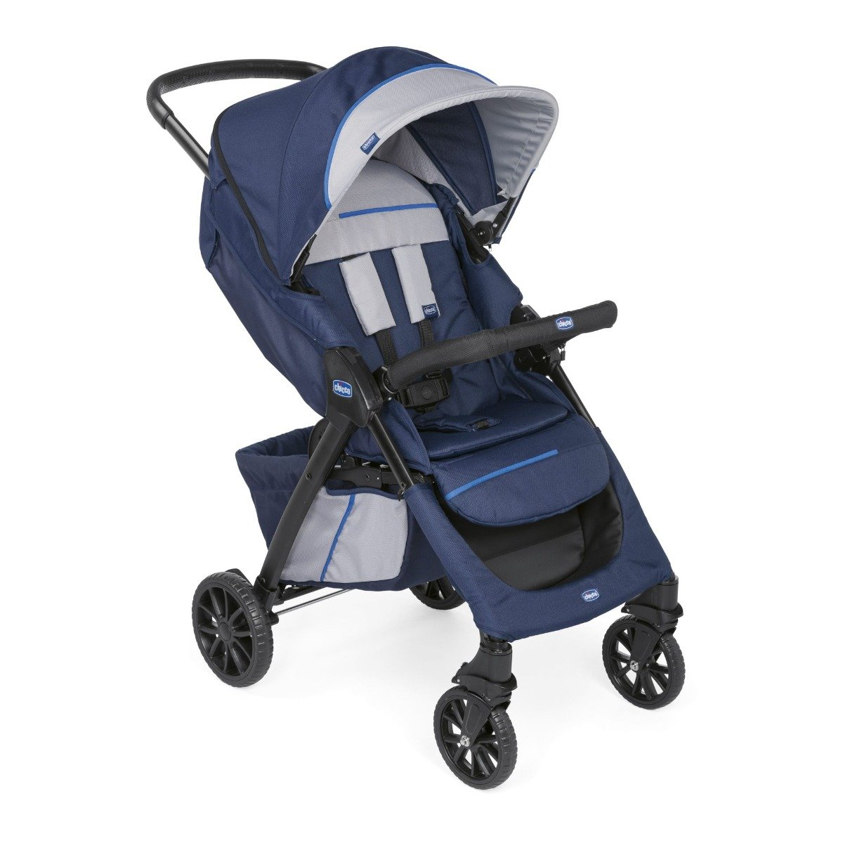 Carucior Chicco 3 in 1 Kwik Trio All In One, Bleumarin