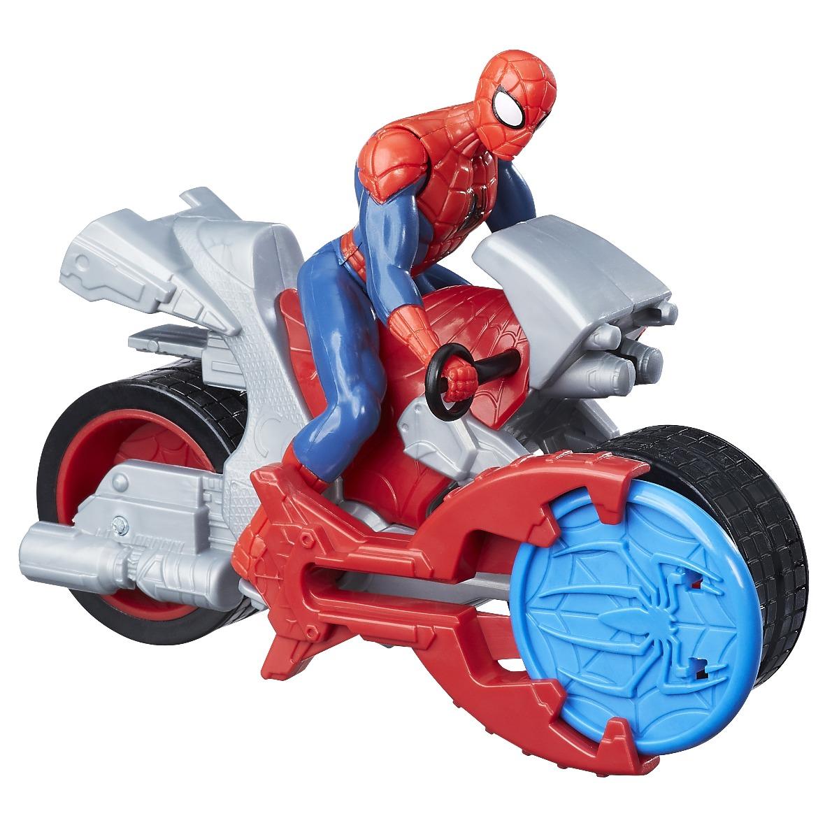 figurina spiderman si vehicul cu lansator