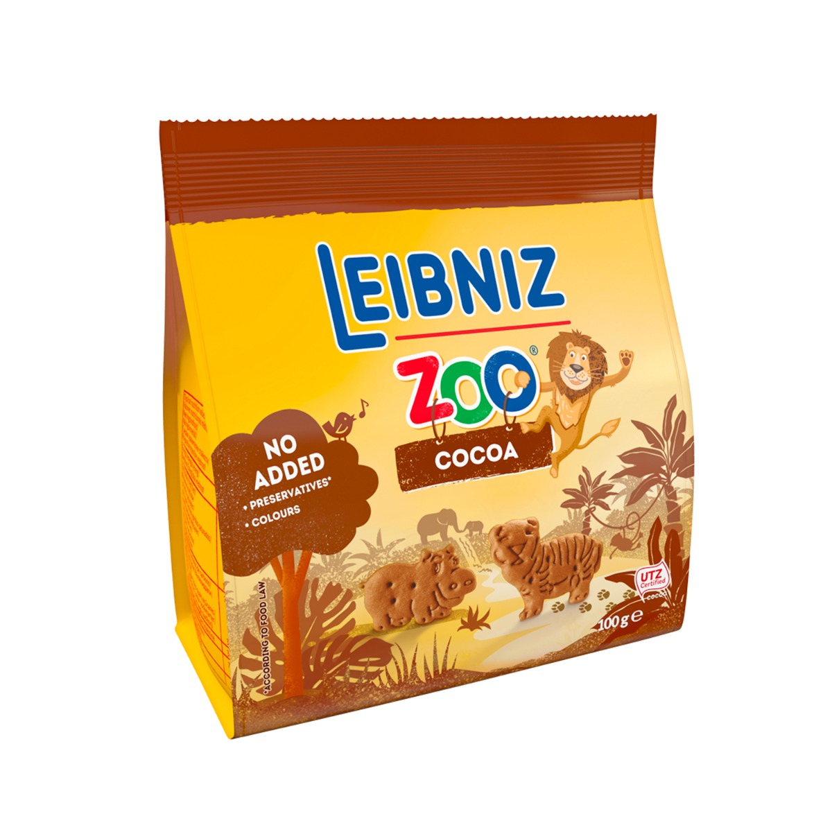 Biscuiti cu ciocolata Leibniz Original Zoo, 100 g imagine 2021