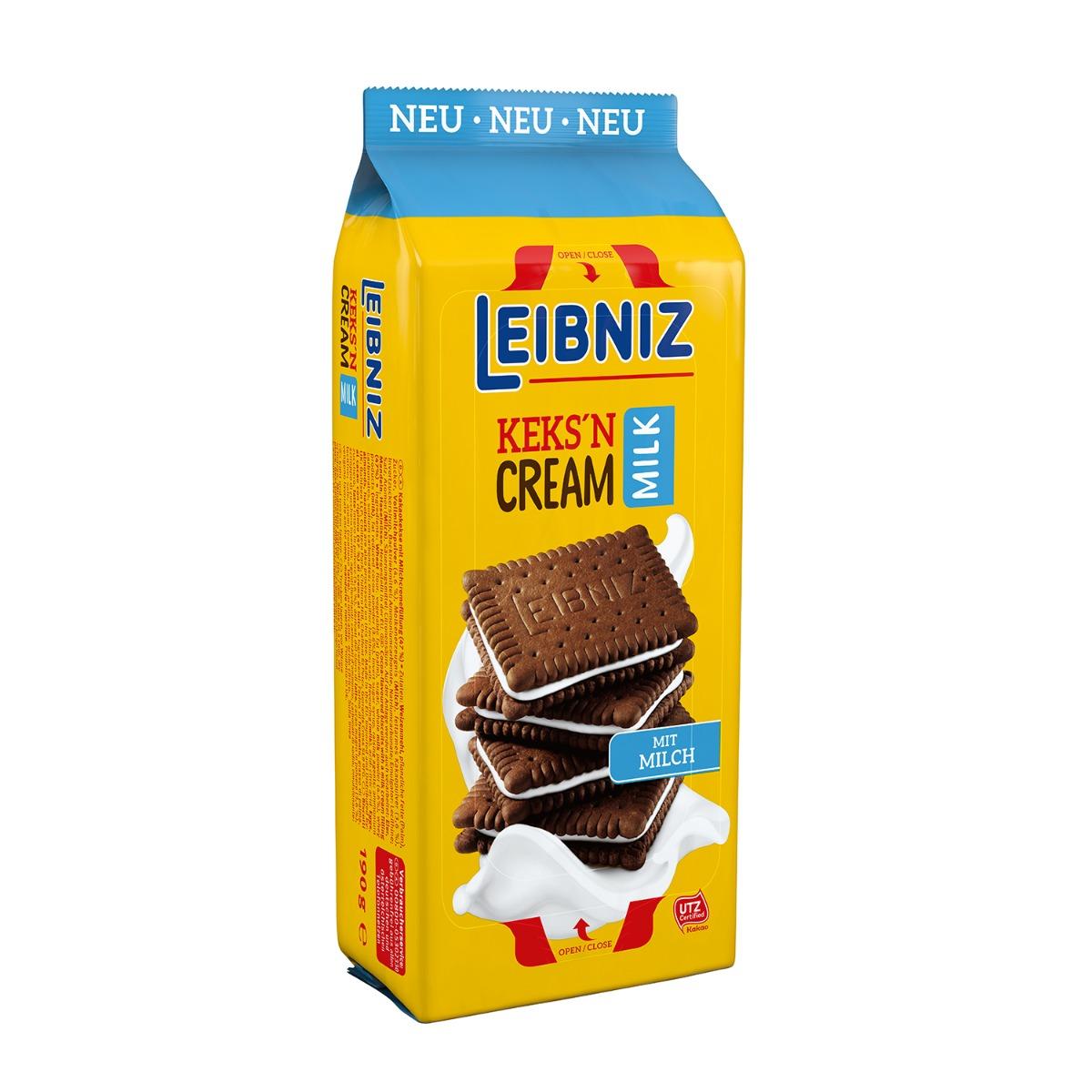 Biscuiti cu crema de lapte Leibniz, 190 g imagine
