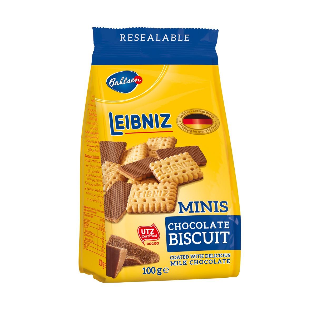 Biscuiti Leibniz Mini Choco, 100 g imagine