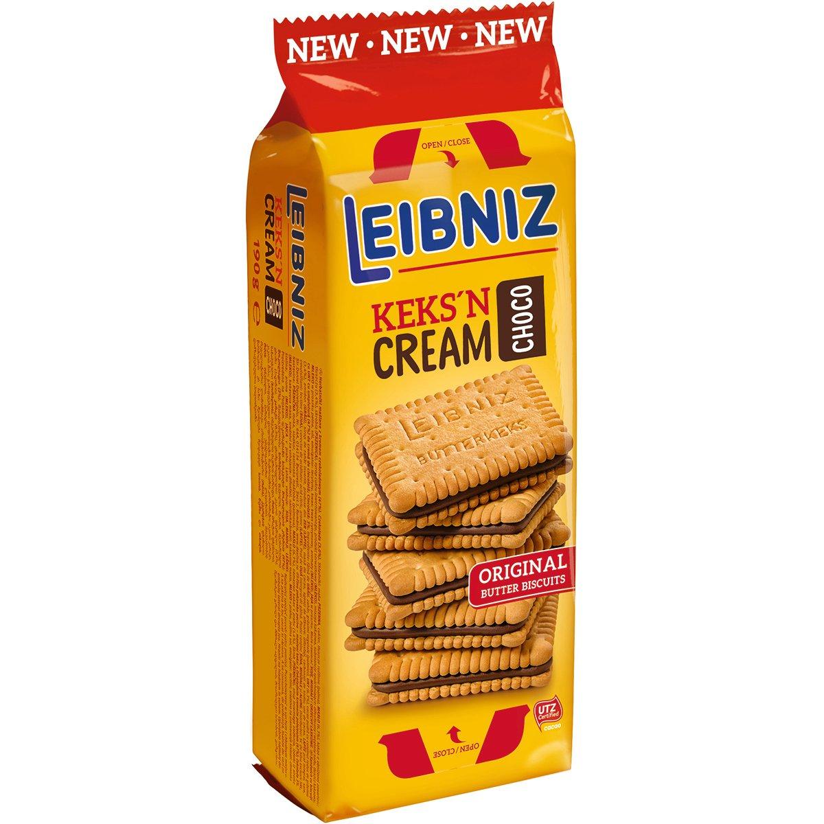 Biscuiti cu crema de cacao Leibniz, 190 g imagine