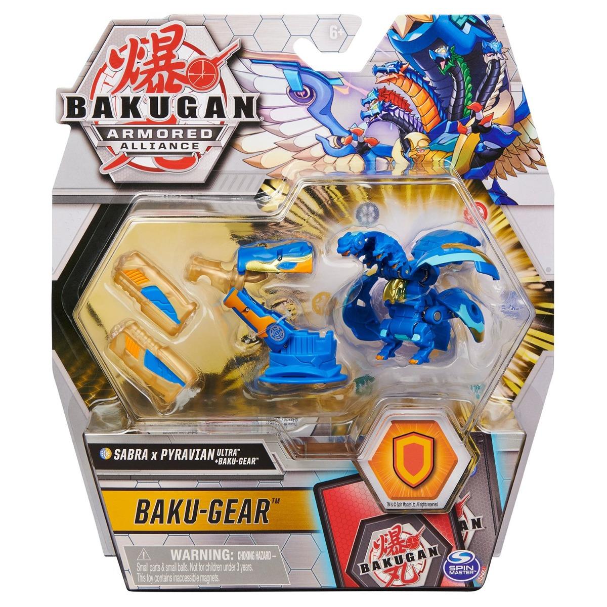 Figurina Bakugan Armored Alliance, Sabra x Pyravian Ultra, Baku-Gear, 20126003