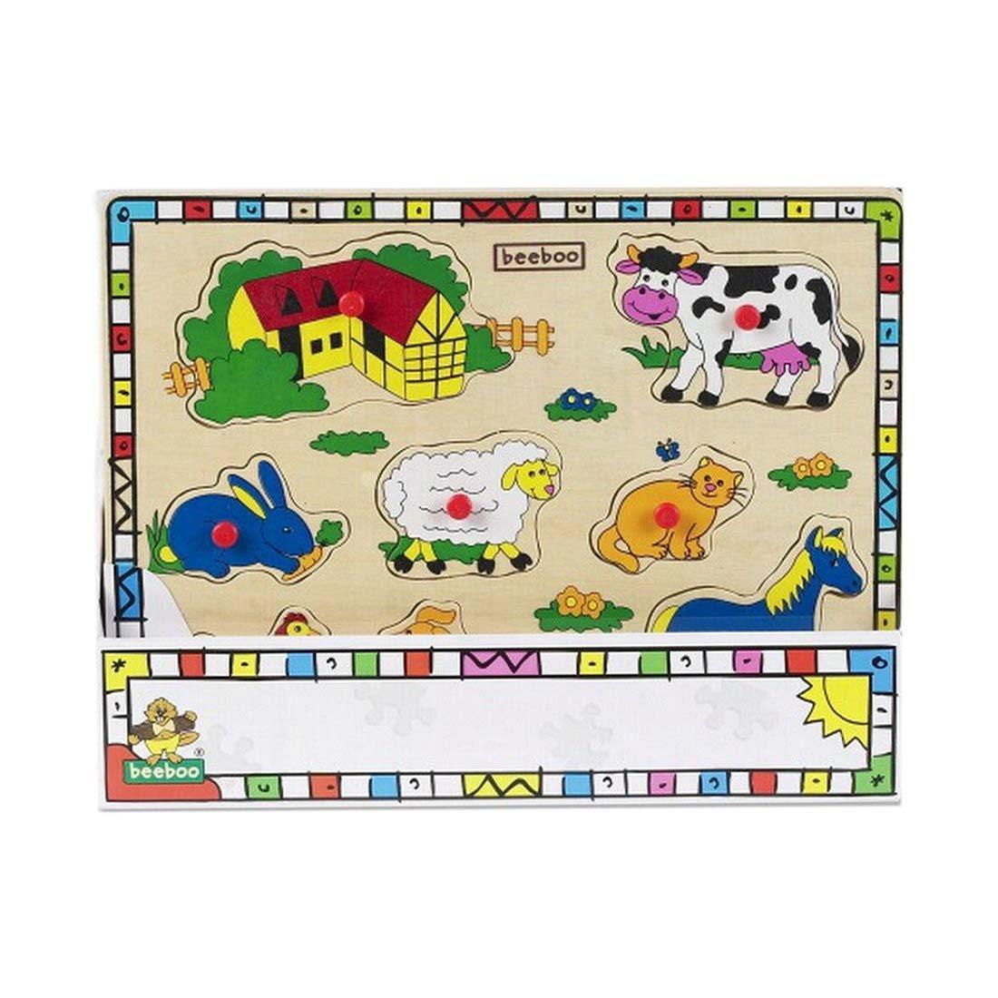 Puzzle din lemn Beeboo, Ferma