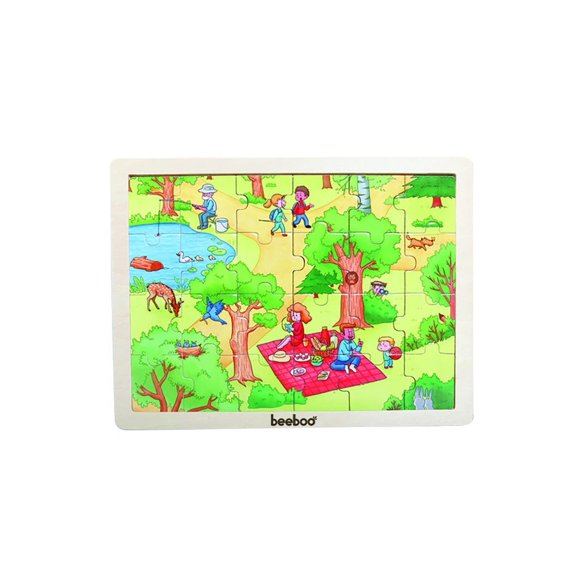 Puzzle din lemn Beeboo, Primavara