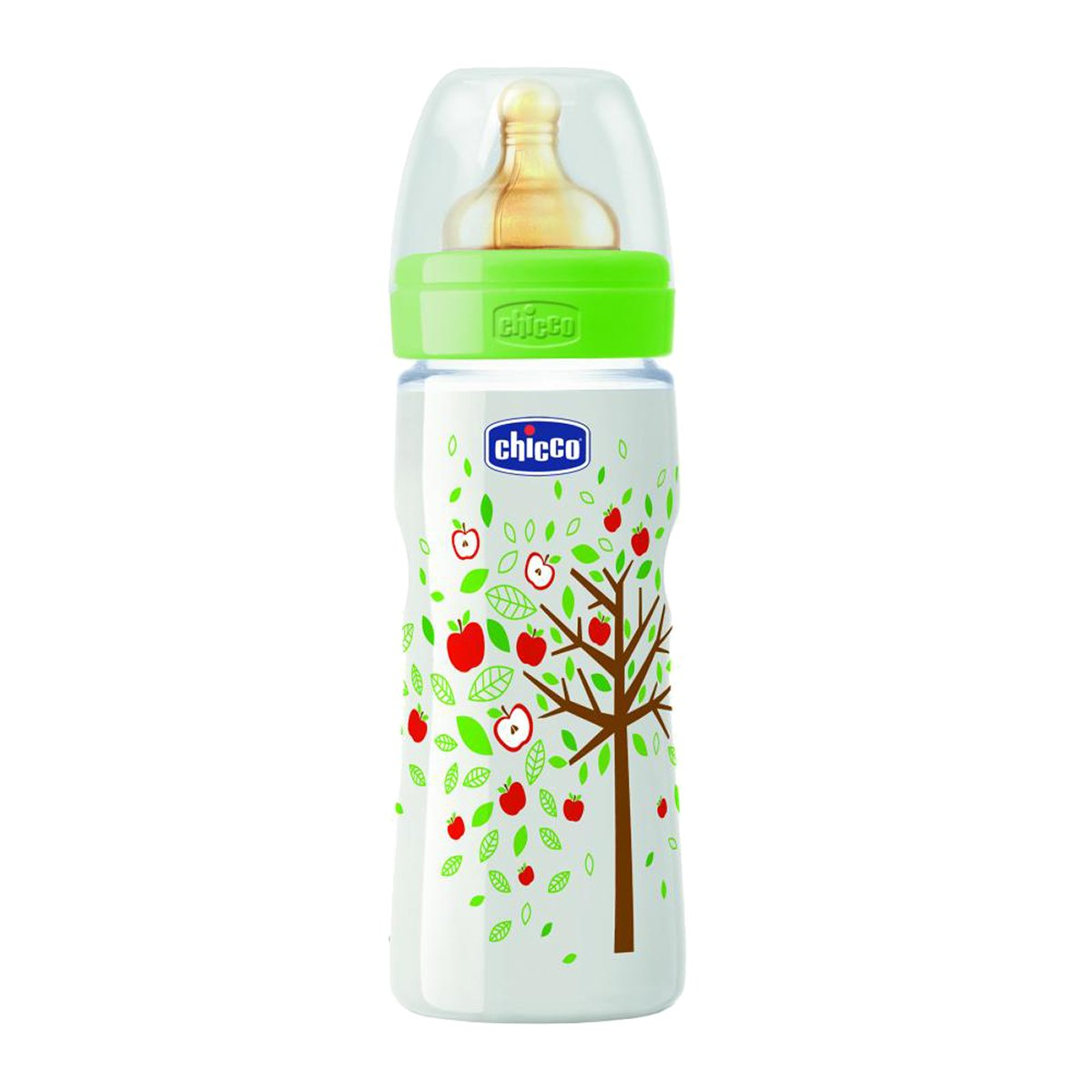 biberon chicco wellbeing pp cu tetina latex, +4 luni+, 330ml