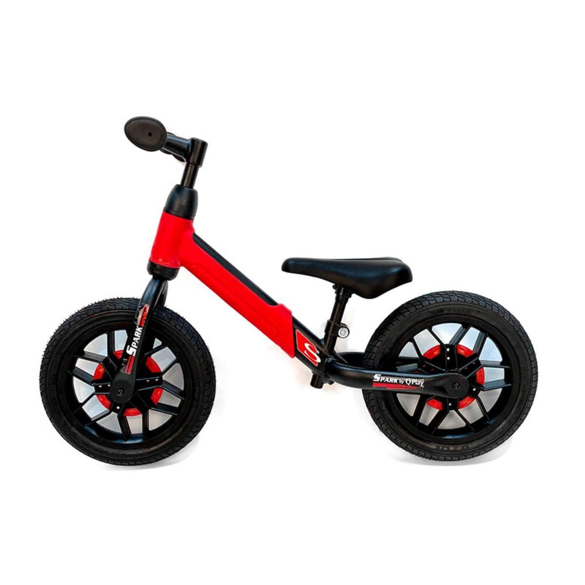 Bicicleta fara pedale DHS Baby Qplay Spark, Rosu, 12 inch