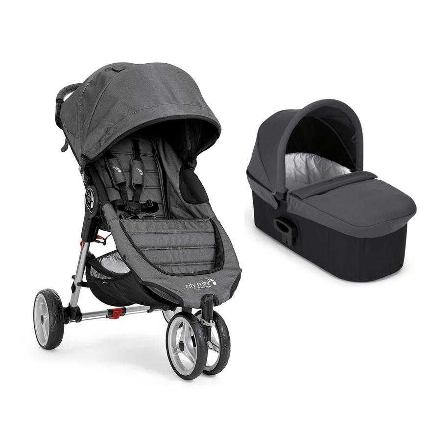 Carucior Baby Jogger City Mini 3 Charcoal Denim, Sistem 2 In 1