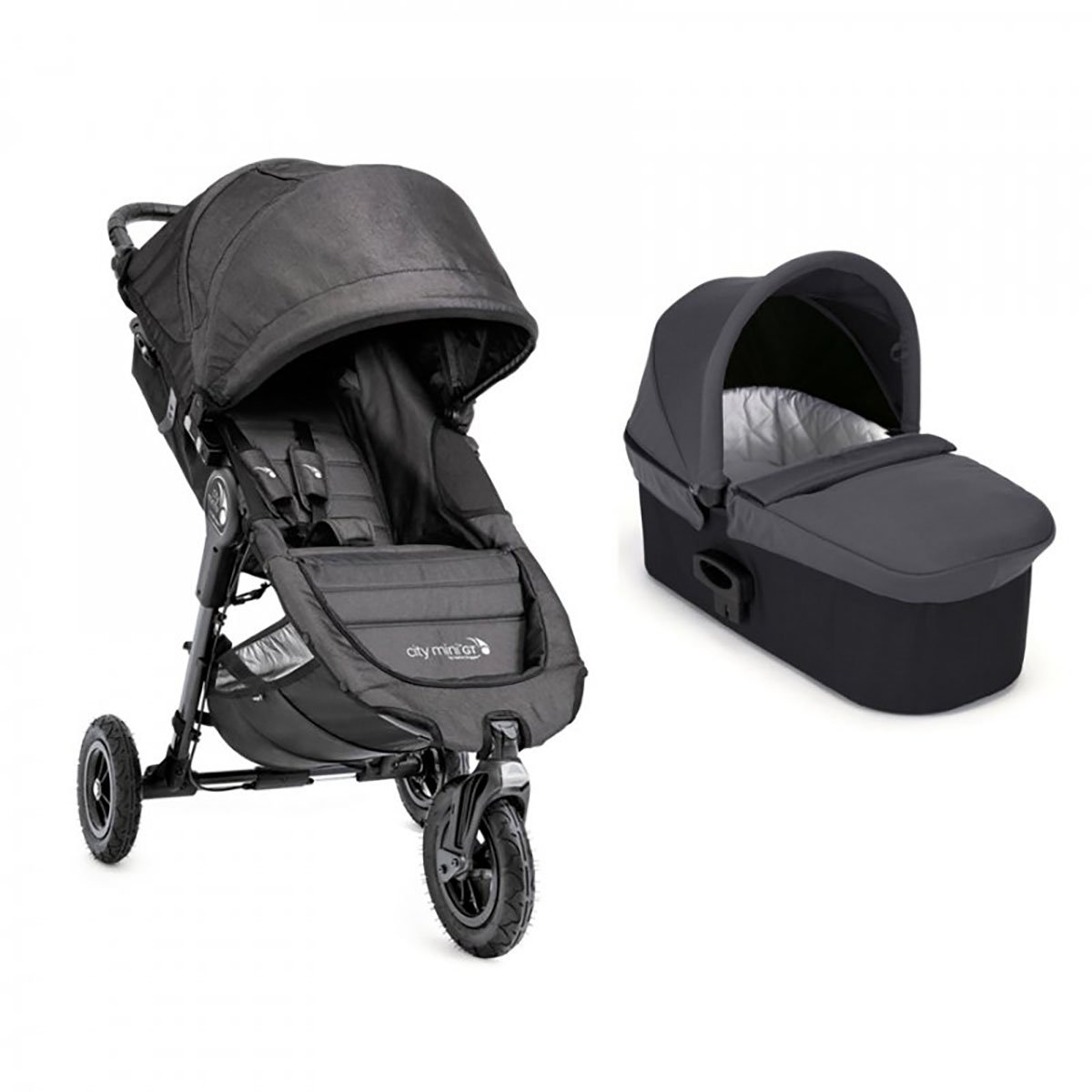 Carucior Baby Jogger City Mini Gt Charcoal Denim, Sistem 2 In 1