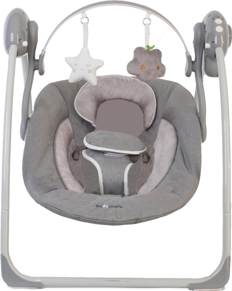 Leagan portabil BO Jungle pentru bebelusi, Gri imagine