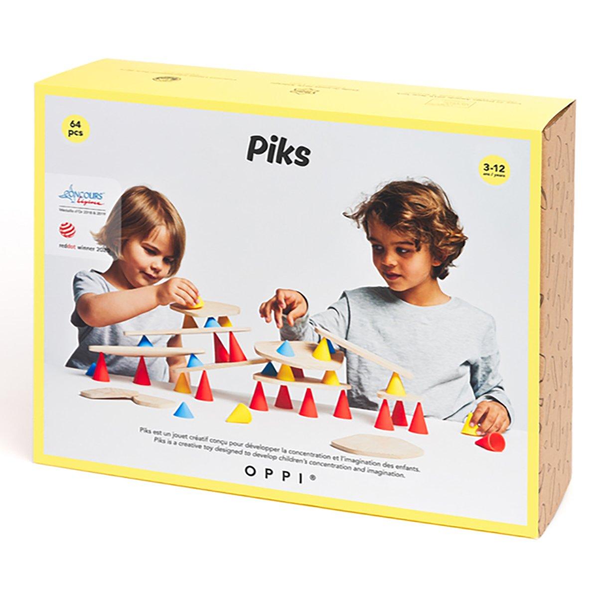 Joc educativ Piks, Kit mare, 64 piese