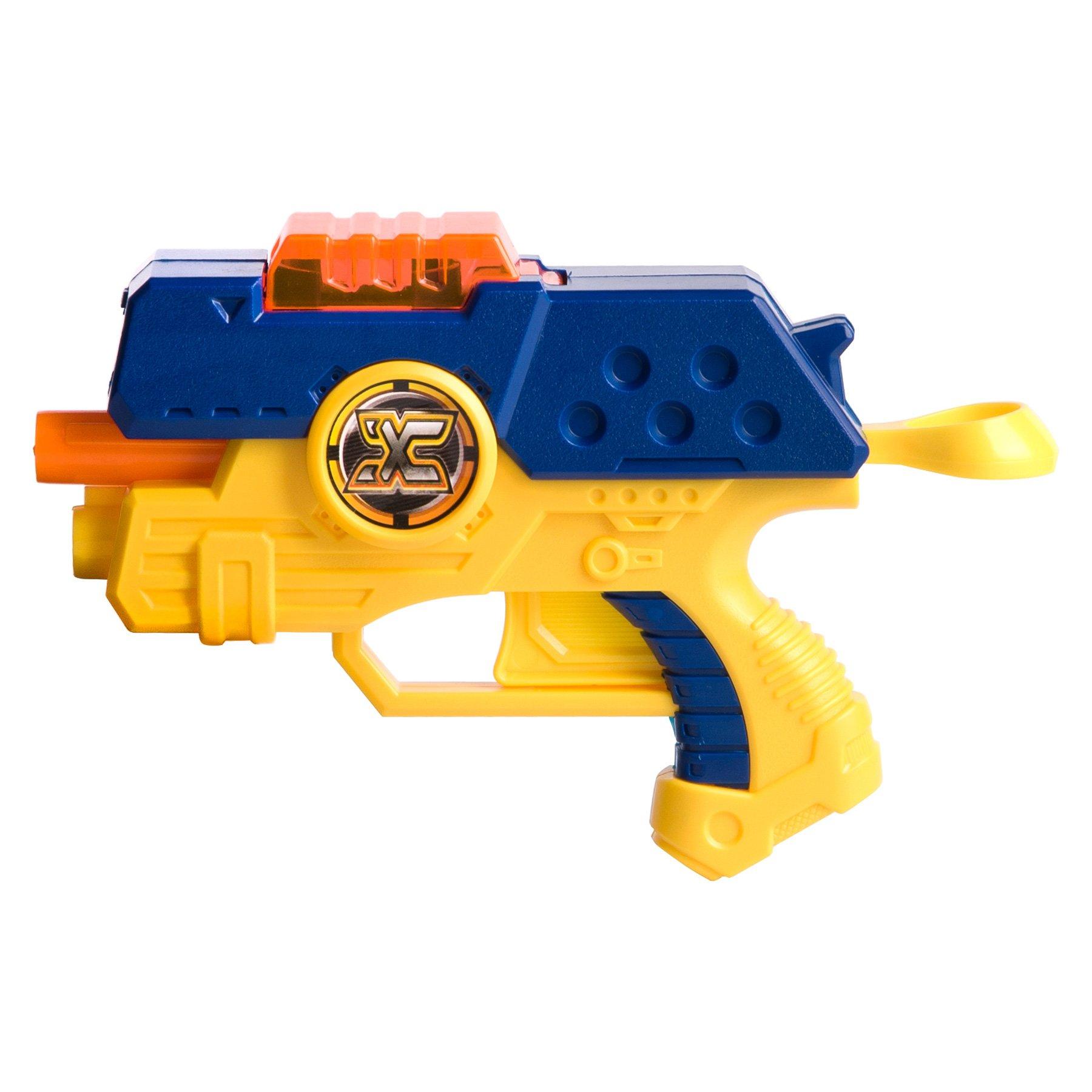blaster x-shot dual cu 6 discuri si 4 sageti