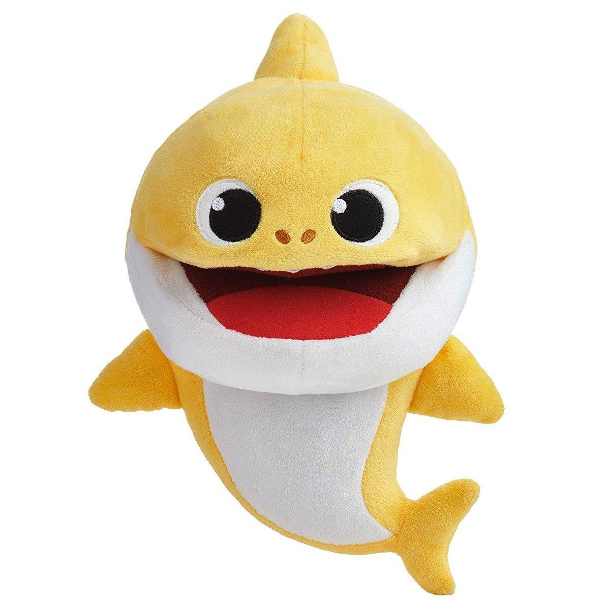 Jucarie de plus Baby Shark - Rechin, Galben, 16 cm
