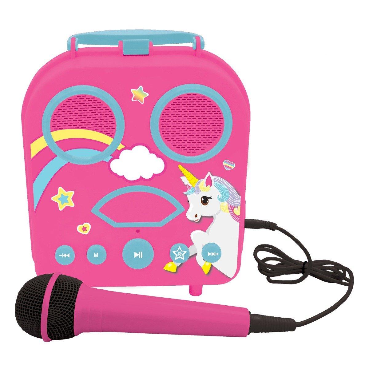 Jucarie interactiva Karaoke portabil, Unicorn, Lexibook