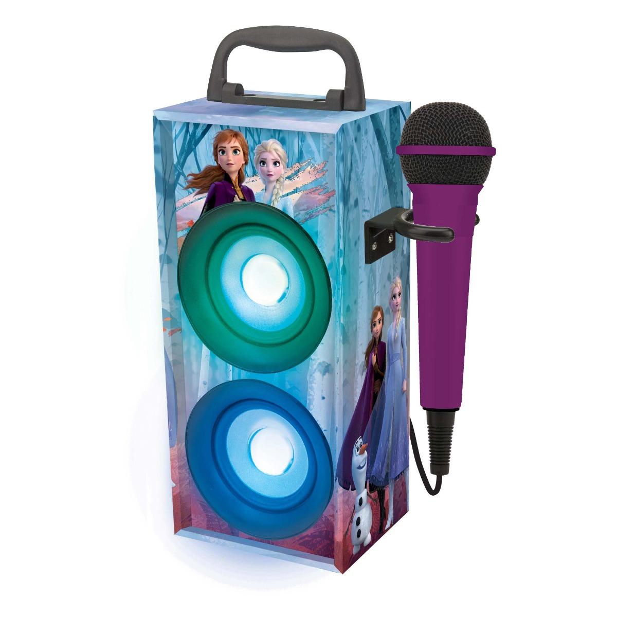 Sistem audio portabil cu microfon si bluetooth 8W, Disney Frozen 2