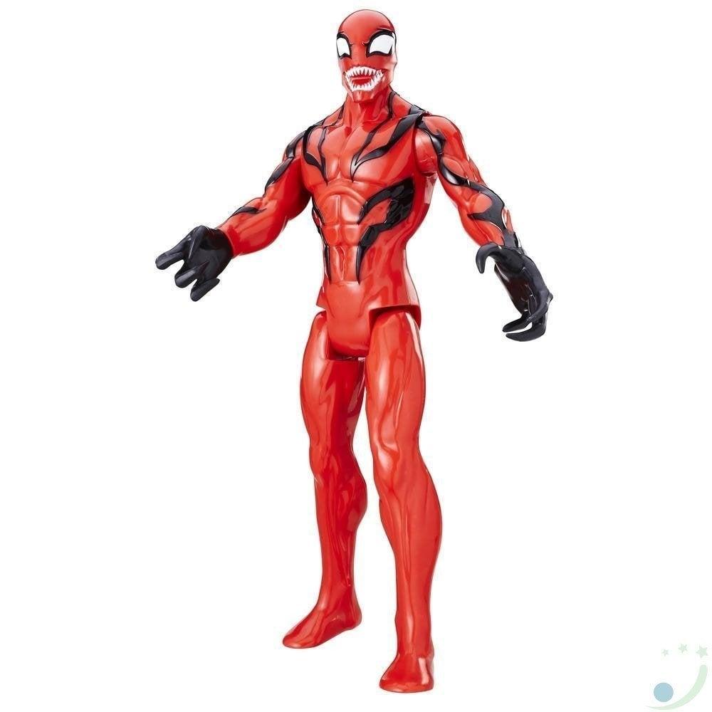 figurina spiderman titan hero, carnage, 30 cm