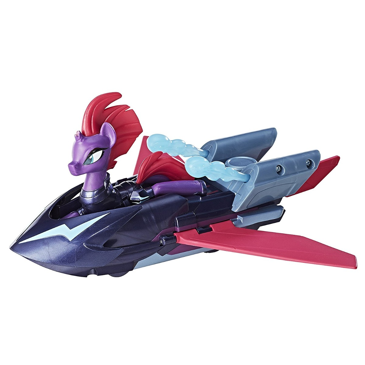 figurina my little pony the movie - tempest shadow cu vehicul sky skiff