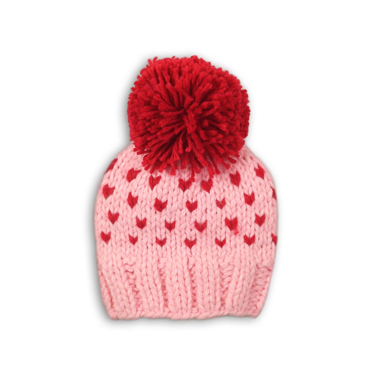 Caciula tricotata cu mot Minoti Hat, Roz M318X018 imagine