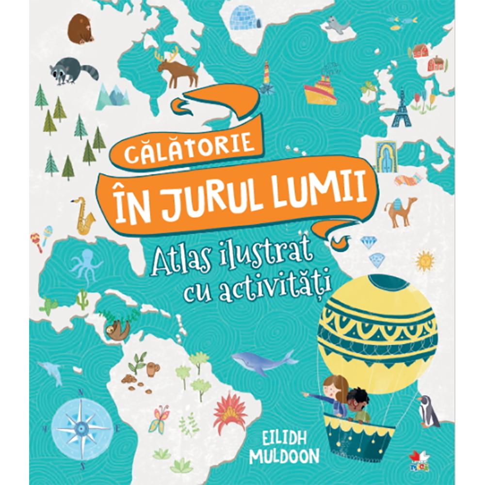 Carte Editura Litera, Calatorie in jurul lumii. Carte de activitati cu harti