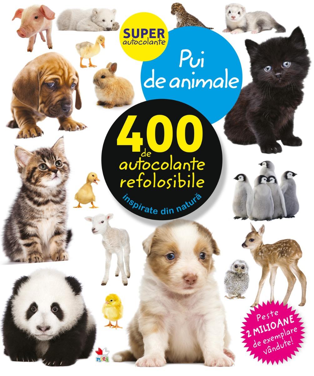 Autocolante refolosibile, pui de animale - Editura Litera