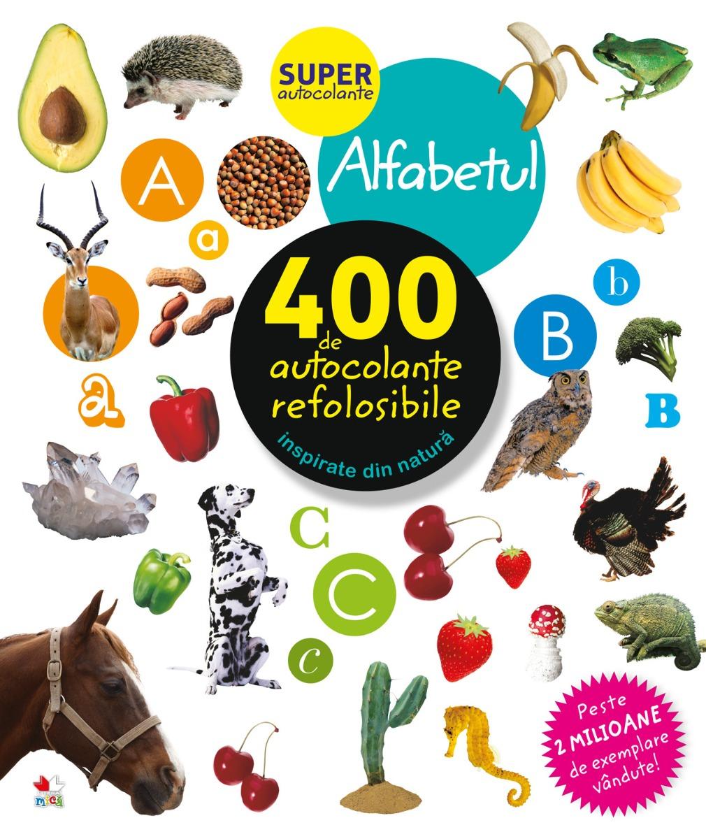 Autocolante refolosibile, alfabetul - Editura Litera